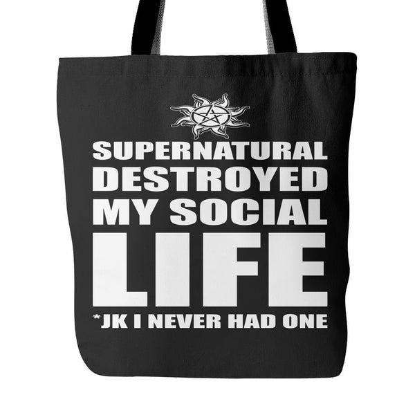 Supernatural Destroyed My Social Life - Totebag - Tote Bags - Supernatural-Sickness - 4