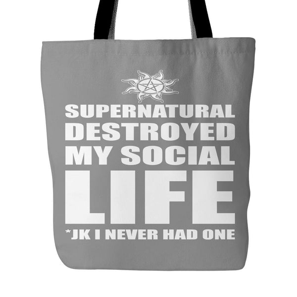 Supernatural Destroyed My Social Life - Totebag - Tote Bags - Supernatural-Sickness - 2