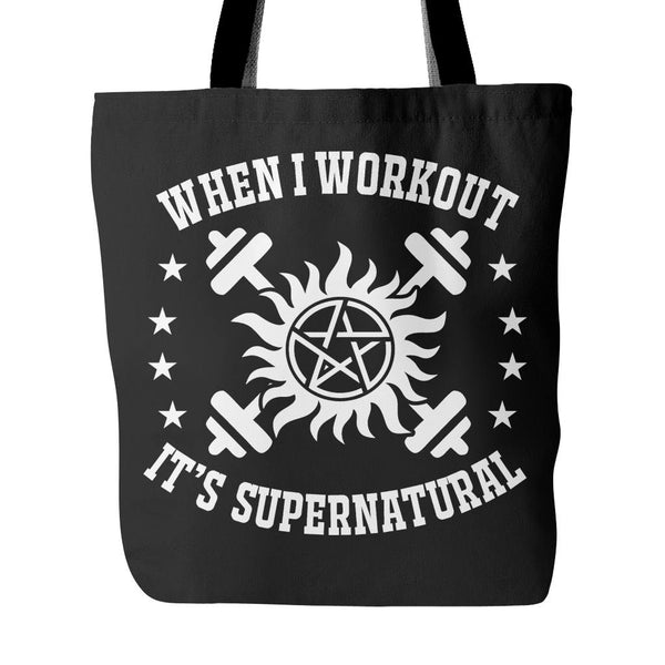 When I Workout - Totebag - Tote Bags - Supernatural-Sickness - 1