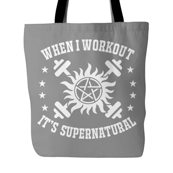 When I Workout - Totebag - Tote Bags - Supernatural-Sickness - 2