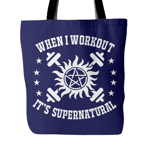 When I Workout - Totebag - Tote Bags - Supernatural-Sickness - 4