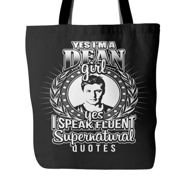 Yes Im A Dean Girl - Totebag - Tote Bags - Supernatural-Sickness - 1
