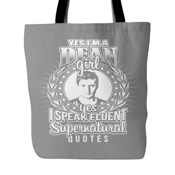 Yes Im A Dean Girl - Totebag - Tote Bags - Supernatural-Sickness - 2