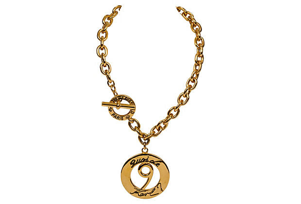 Karl Lagerfeld Gold Pendant Necklace