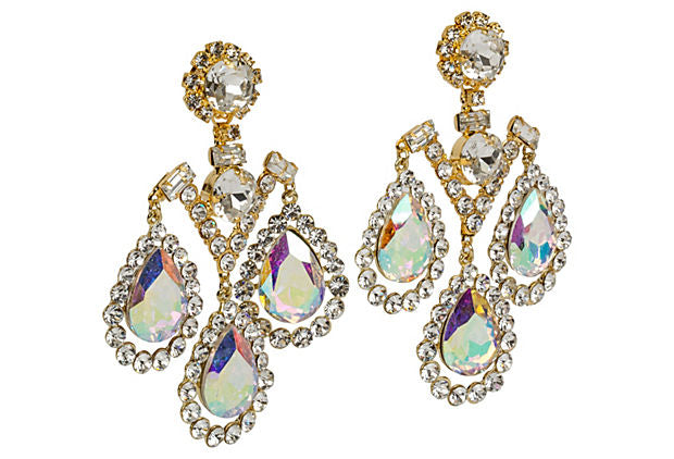 Vrba Aurora Borealis Drop  Earrings