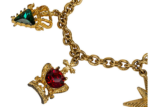 Napier Gold-Plated Jewel Charm Bracelet