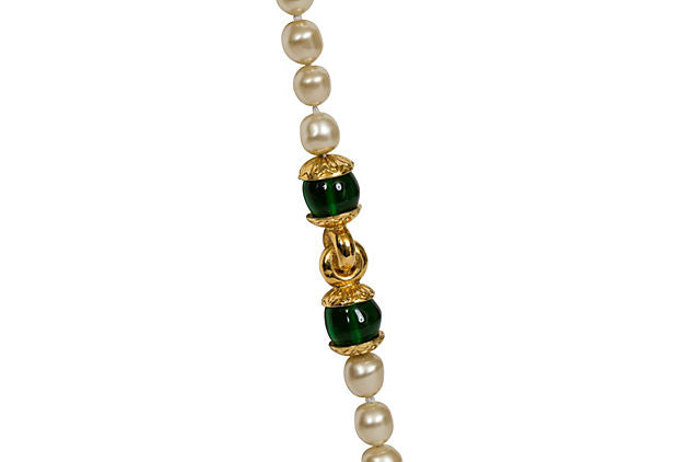 Chanel Pearl & Gripoix Sautoir Necklace