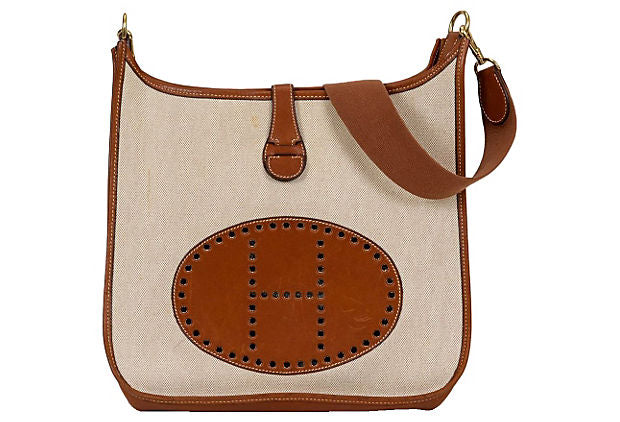 Hermès Evelyne GM Brown Barenia & Toile