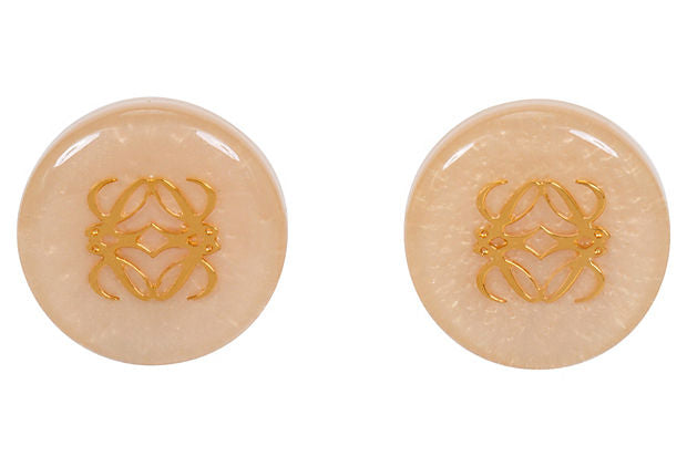 Céline Mother-of-Pearl & Resin Earrings