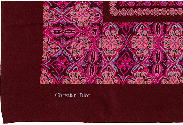 Christian Dior Silk Plum Shawl