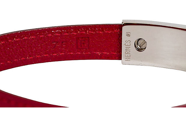 Hermès Sliding Red Palladium Bracelet