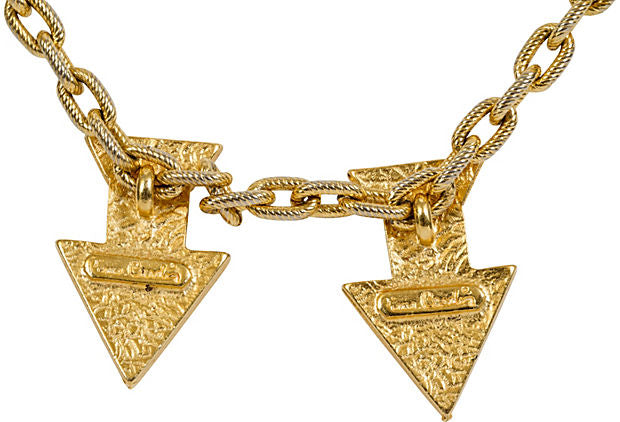 Pierre Cardin Gold Arrow Necklace