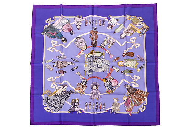 Hermès Hello Dolly Silk Twill Scarf