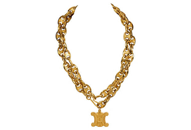Celine Gold Link Belt/Necklace