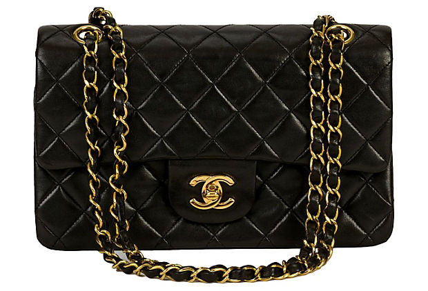 Chanel Black Classic Double Flap - Chanel - Vintage Lux