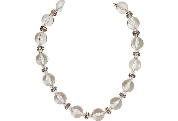 Chanel Lucite & Crystal Choker Necklace