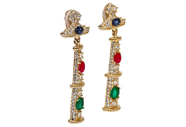 Kenneth    Jay Lane Multi-Stone Earrings