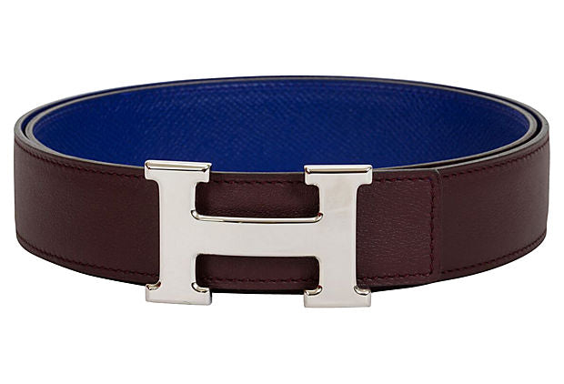 Hermès Maroon & Electric Blue Belt
