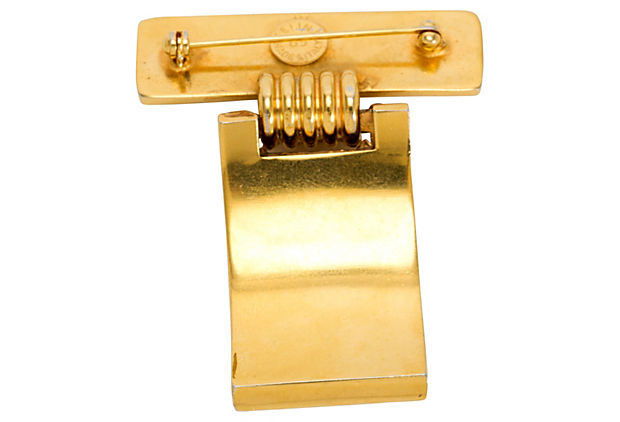 Celine Gold-Plated Bar Pin