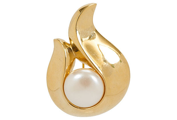 Givenchy Teardrop Pearl Pin