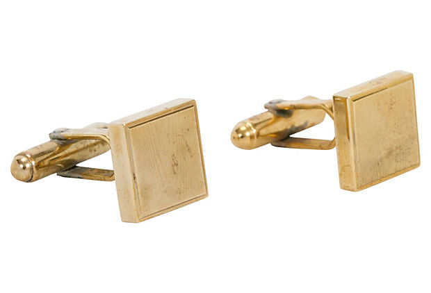 Christian Dior Gold-Plated Cuff Links