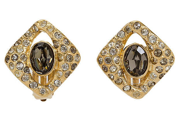 Givenchy Gold-Plated Amethyst Earrings