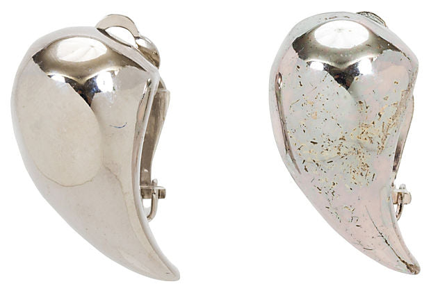 Givenchy Silver-Plated Teardrop Earrings
