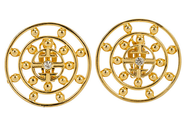 Oversize Round Givenchy Earrings