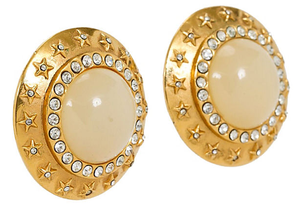 Oversize Chanel Star Clip Earrings