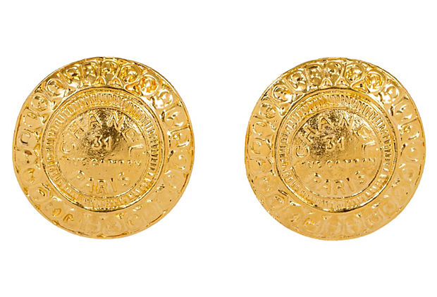 Round Chanel Rue Cambon Earrings