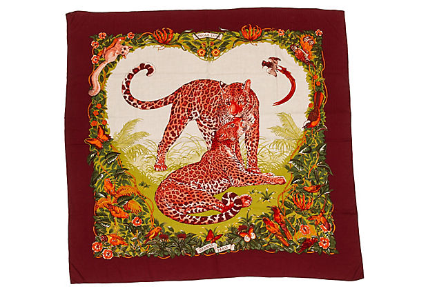 Hermès Jungle Love Cashmere shawl Dallet
