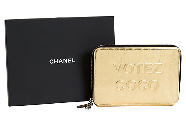 Chanel Votez Coco Gold Clutch