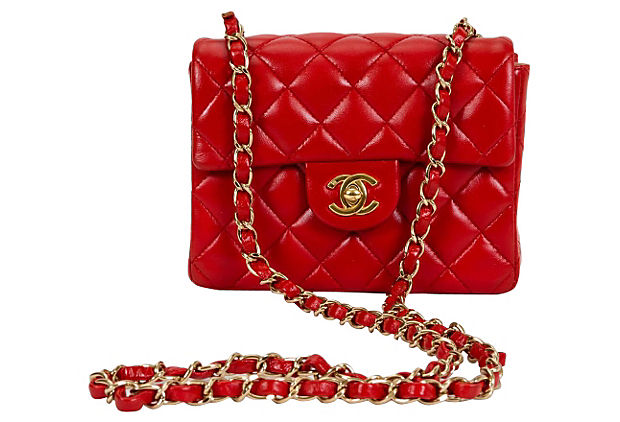 Chanel Red Mini Classic Flap Bag