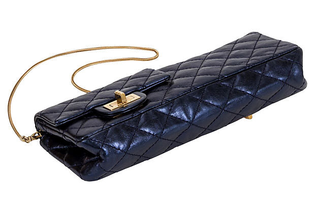 Chanel Reissue Metallic Blue Clutch