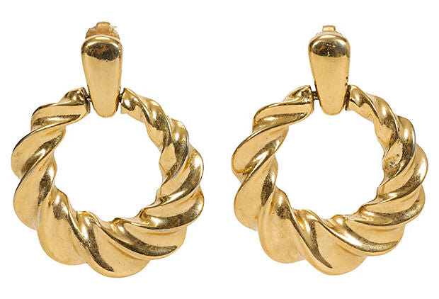 Givenchy Gold-Plated Hoop Earrings