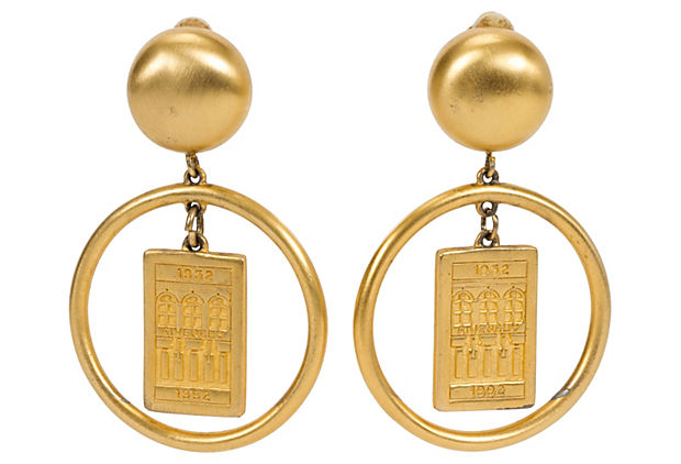 Gold Givenchy Hoop Earrings
