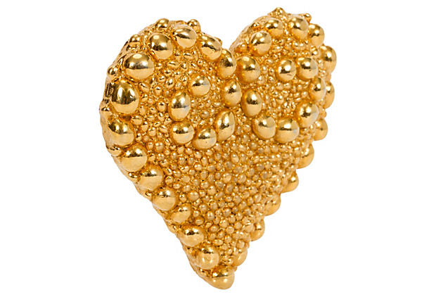 Christian Lacroix Large Gold Heart Pin