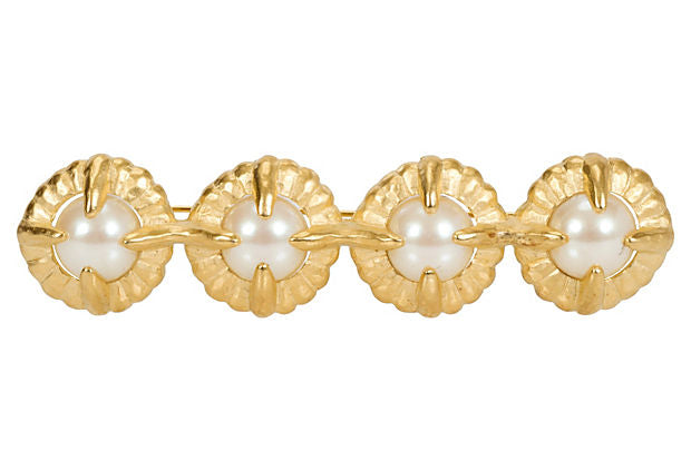 Givenchy Faux-Pearl Bar Pin