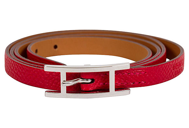 Hermès Red Triple Wrap Bracelet