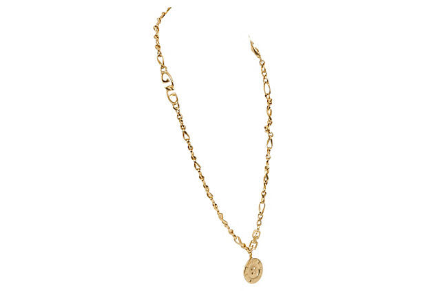 Givenchy Gold Chain Pendant Necklace