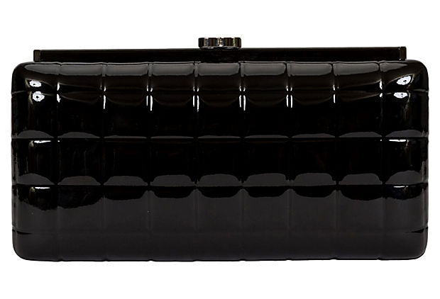 Chanel Patent Leather Evening Clutch