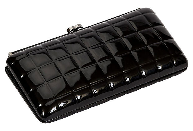 Chanel Patent Leather Evening Clutch - Chanel - Vintage Lux
