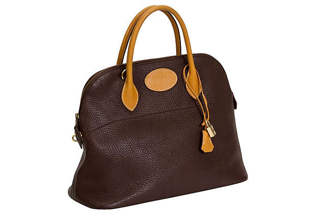 Hermès Brown/Naturel Bolide Bag