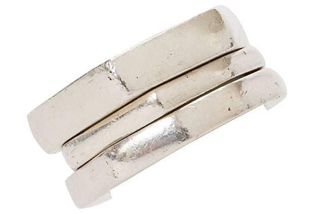 Gucci Sterling Silver Stack Rings S/3 - Gucci - Vintage Lux