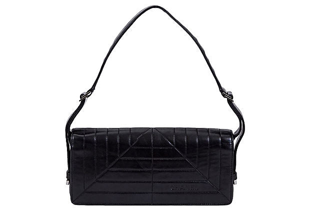 Chanel Black Lambskin Flap Bag - Chanel - Vintage Lux