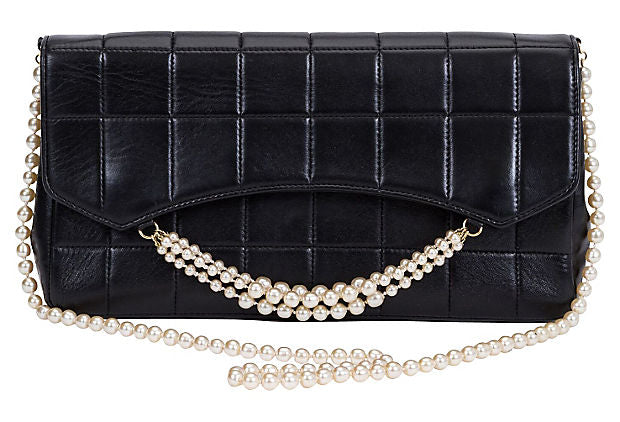 Chanel Black & Pearl Evening Bag