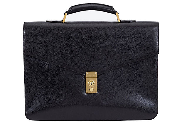 Chanel Black Caviar Unisex Briefcase
