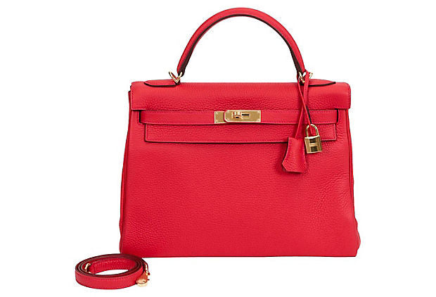 Hermès 32cm Rouge Tomate Kelly Bag BNIB