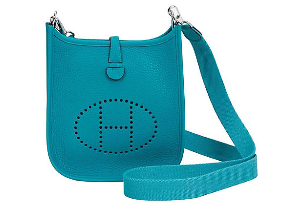 Hermès Mini Blue Paon Evelyne