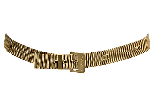 Chanel Gold Mesh Chain Belt 1994